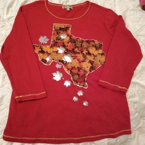 Texas map/long sleeves top L